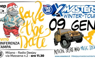 Dalla grafica all'evento Deejay Xmasters Winter Tour 2018